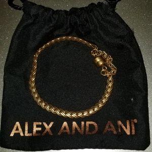 Alex and Ani Gold Plated Bracelt